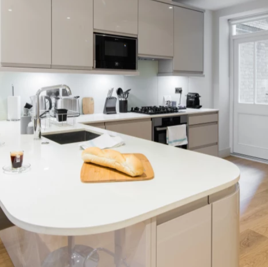 Kitchen facilities at Fitzrovia Apartments - Citybase Apartments