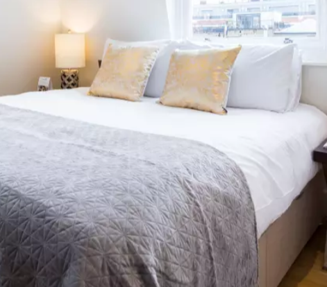 Bright bedroom at Fitzrovia Apartments - Citybase Apartments