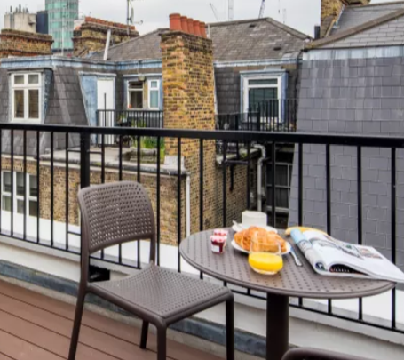Balcony at Fitzrovia Apartments - Citybase Apartments