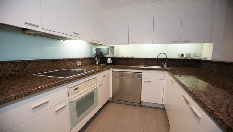 Kitchen at Quay West Apartment - Citybase Apartments