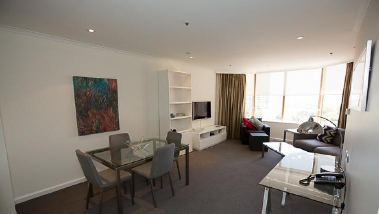 Living area at Quay West Apartment - Citybase Apartments