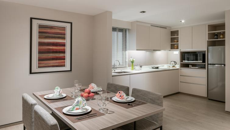 Dining Area at Le Grove Serviced Residences, Singapore - Citybase Apartments