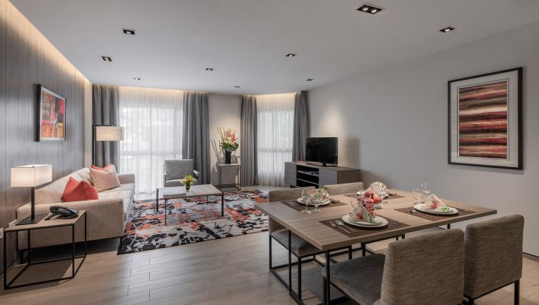 Lounge at Le Grove Serviced Residences, Singapore - Citybase Apartments
