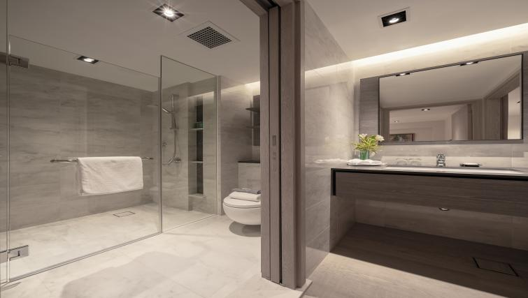 Bathroom at Le Grove Serviced Residences, Singapore - Citybase Apartments