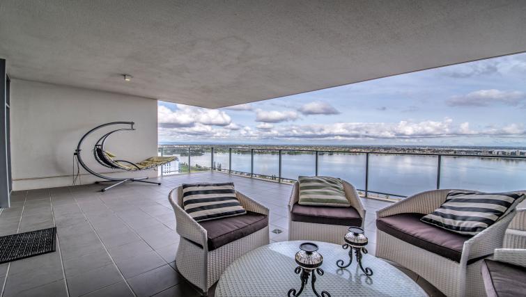 Balcony at Astra Elevation Apartments - Citybase Apartments