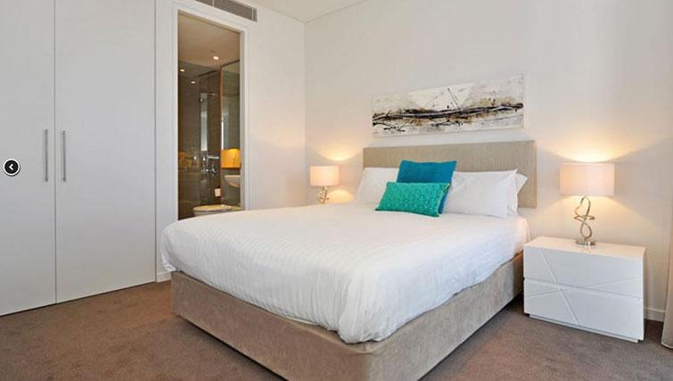 Double bed at Astra Elevation Apartments - Citybase Apartments