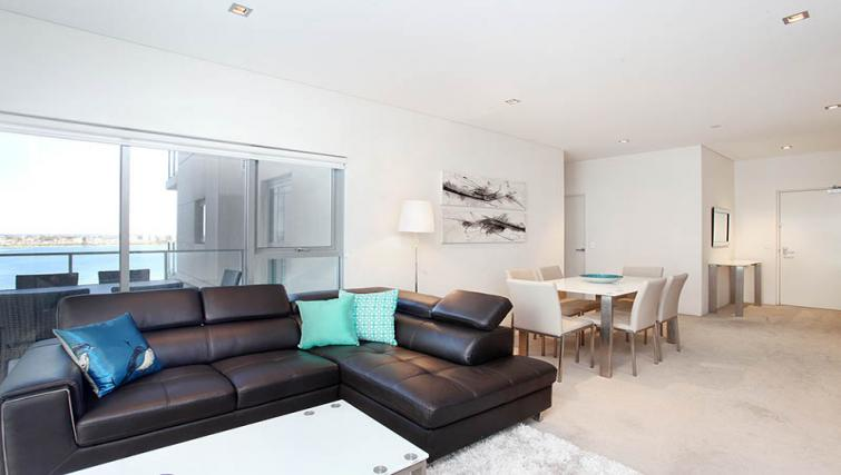 Bright living area at Astra Elevation Apartments - Citybase Apartments