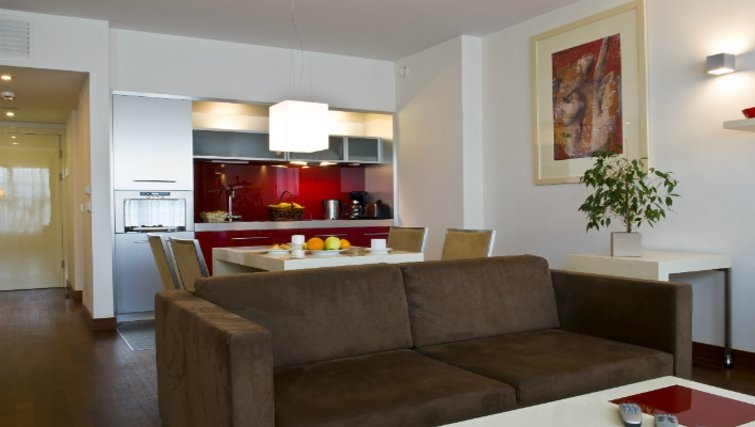 Open plan kitchen in Mamaison Residence Diana - Citybase Apartments