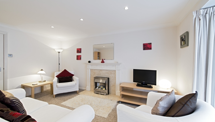 Living area at Brooklands Court Apartments - Citybase Apartments