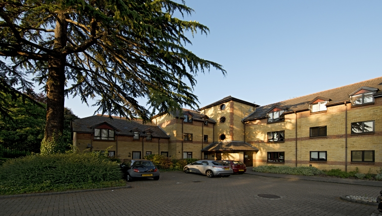 Exterior of Brooklands Court Apartments - Citybase Apartments