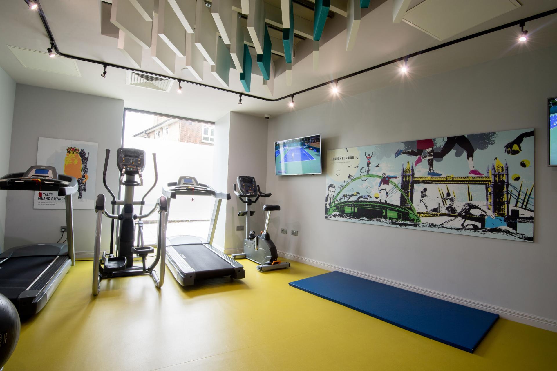 Gym at Roomzzz London Stratford, Stratford, London - Citybase Apartments