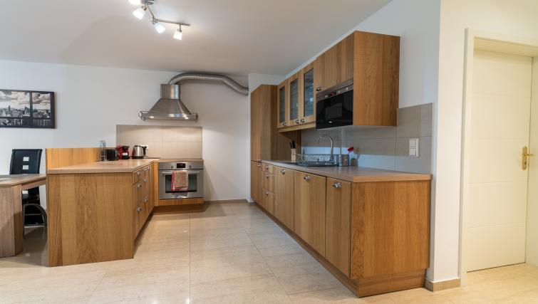 Kitchen at Rue du Soleil Apartment - Citybase Apartments