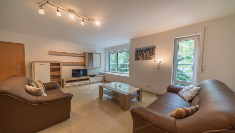 Lounge at Rue du Soleil Apartment - Citybase Apartments