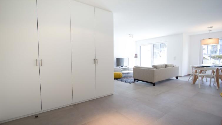 Closet at the Rue des Grottes Apartment - Citybase Apartments