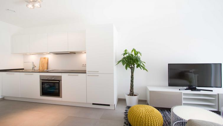 Kitchen at the Rue des Grottes Apartment - Citybase Apartments