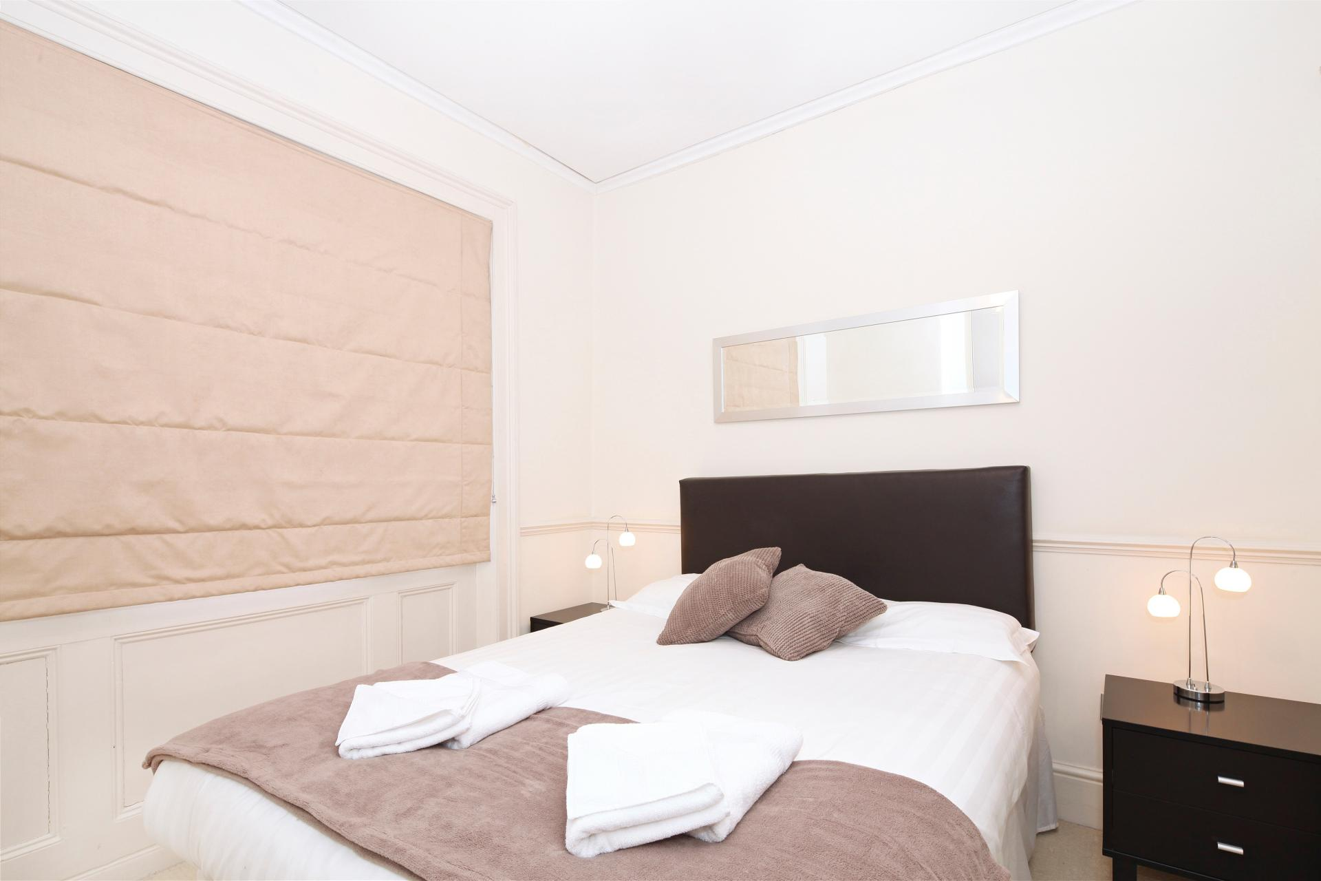 Double bed at  LCS Hanover Place Apartments - Citybase Apartments