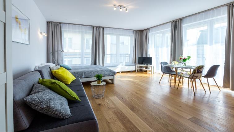 Spacious living area at Ariańska Residence - Citybase Apartments