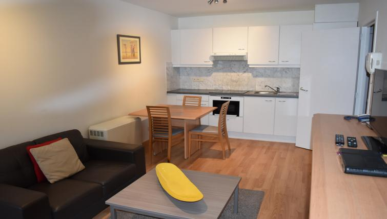 Open-plan living area at Woluwe Gardens Apartments - Citybase Apartments