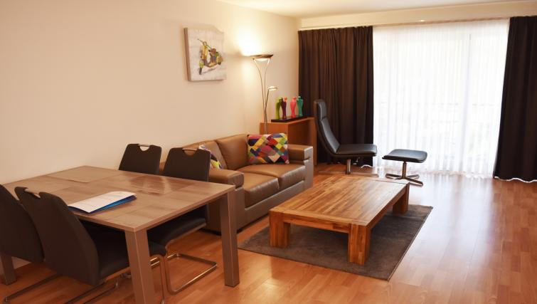 Dining table at Woluwe Gardens Apartments - Citybase Apartments