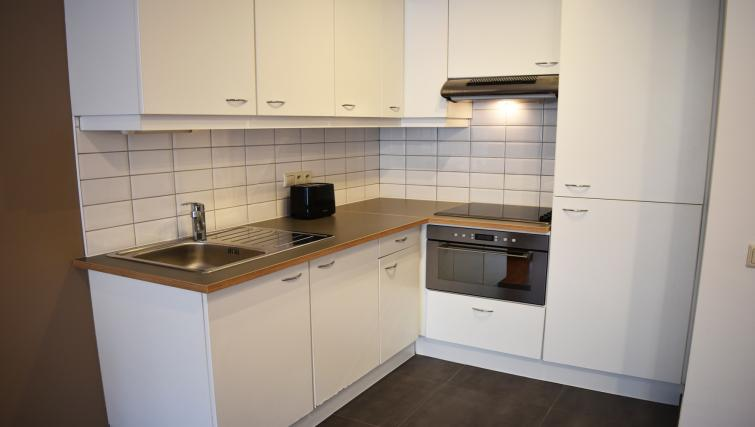 Modern kitchen at Woluwe Gardens Apartments - Citybase Apartments