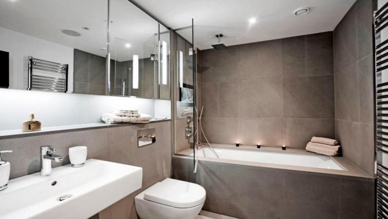 Bathroom at the Valet Limehouse Apartments - Citybase Apartments