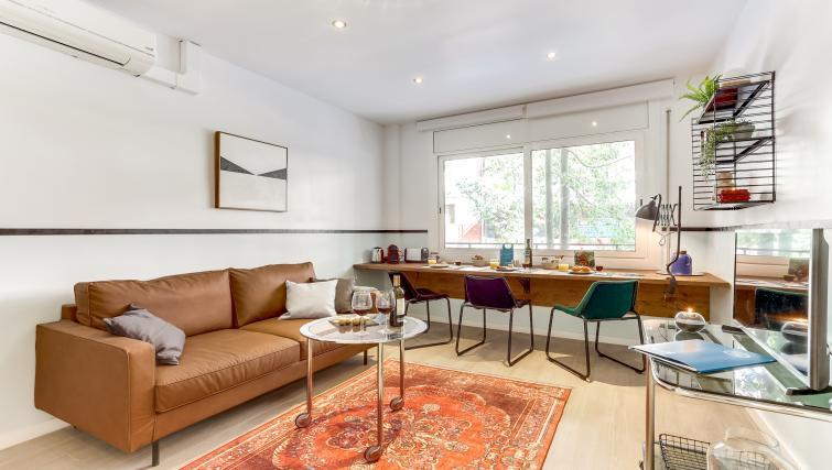 Living room at Camp Nou Galileu Apartment - Citybase Apartments