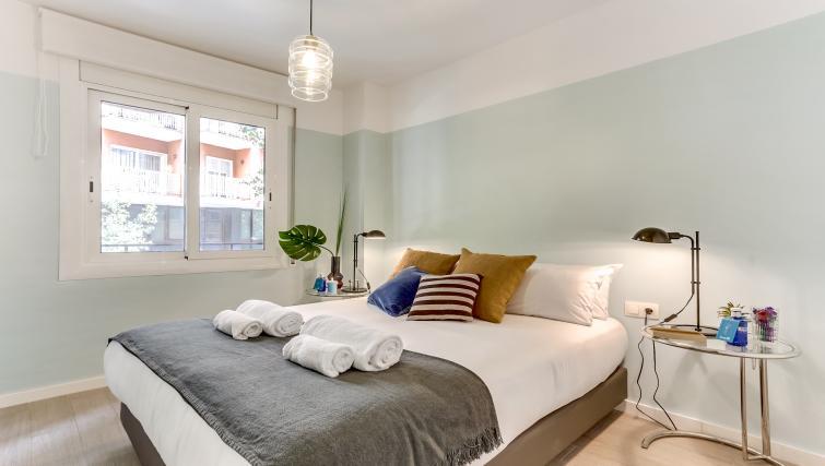 Bedroom at Camp Nou Galileu Apartment - Citybase Apartments