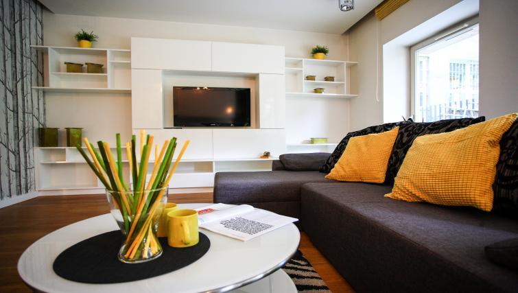 Coffee table at Lobzowska Apartments - Citybase Apartments