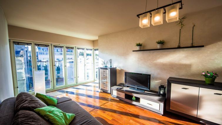 Modern living room at Lobzowska Apartments - Citybase Apartments