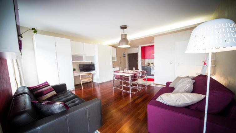 Living space at Lobzowska Apartments - Citybase Apartments