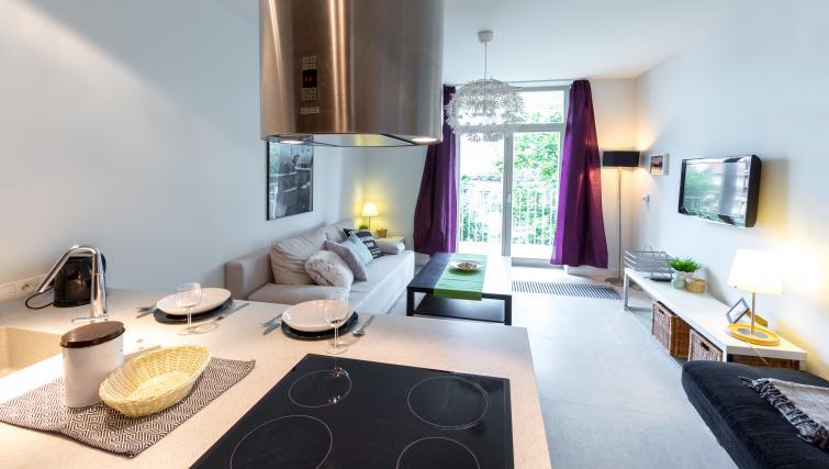 Kitchen facilities at Lobzowska Apartments - Citybase Apartments