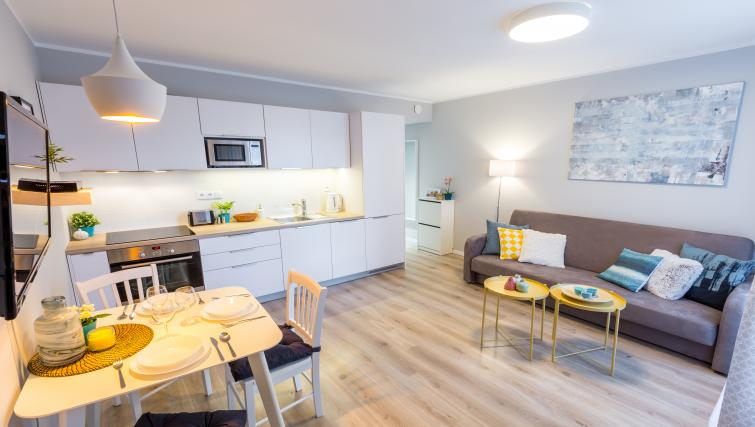 Spacious kitchen at Vistula and Wawel Apartments - Citybase Apartments