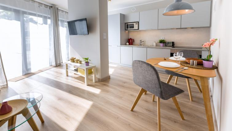 Bright living room at Vistula and Wawel Apartments - Citybase Apartments