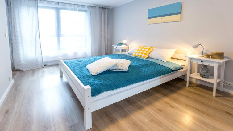 Double bed size at Vistula and Wawel Apartments - Citybase Apartments