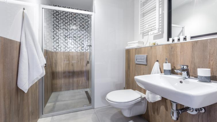 Bathroom at Vistula and Wawel Apartments - Citybase Apartments