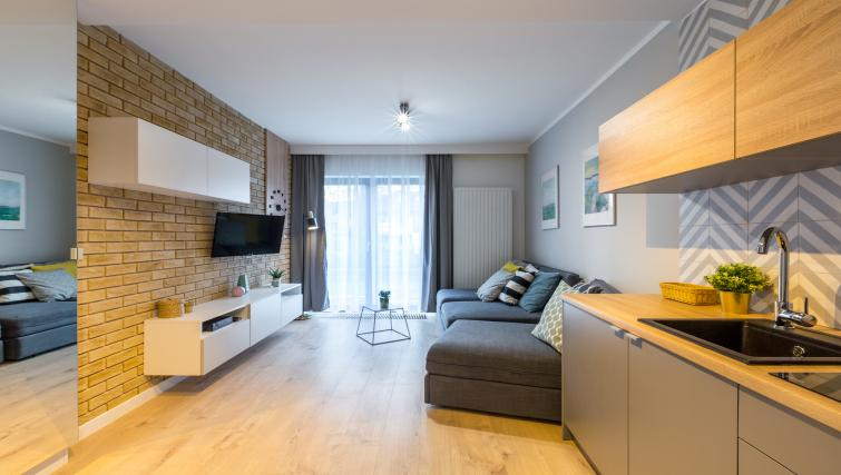 Living area at Vistula and Wawel Apartments - Citybase Apartments