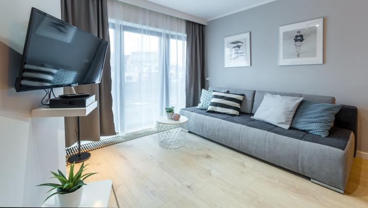 Living room at Vistula and Wawel Apartments - Citybase Apartments