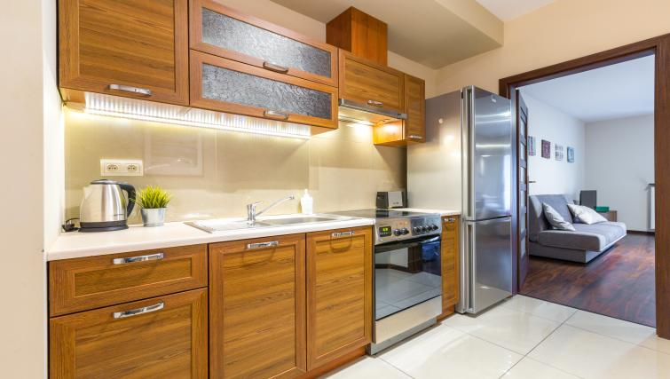 Kitchen at Angel City Apartments - Citybase Apartments