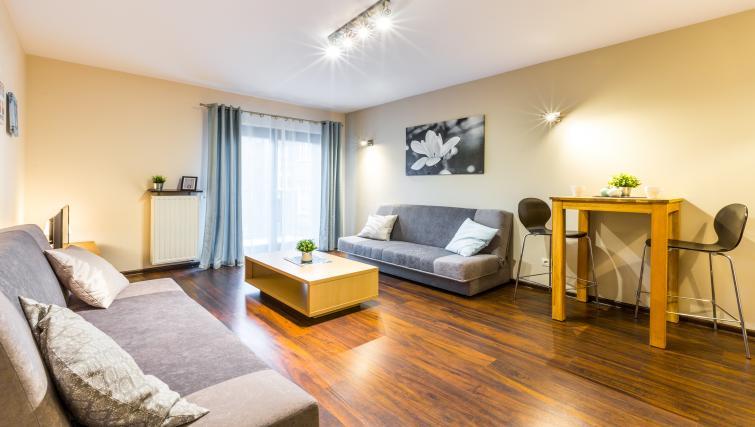 Living room at Angel City Apartments - Citybase Apartments