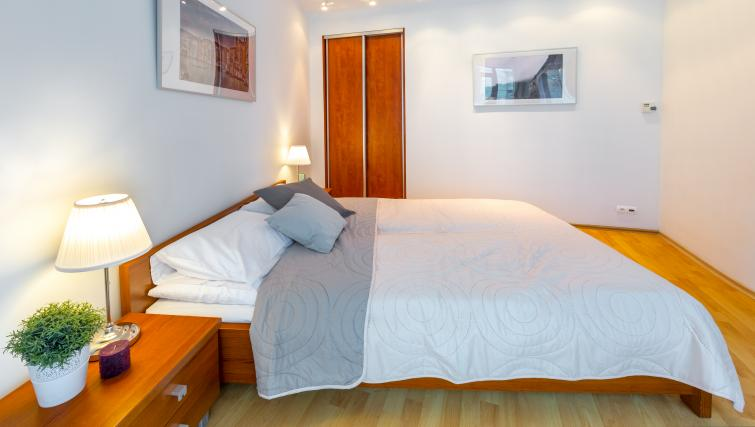 Modern bedroom at Kazimierza Wielkiego Apartments - Citybase Apartments