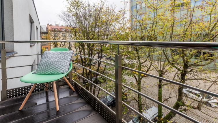 Balcony at Kazimierza Wielkiego Apartments - Citybase Apartments