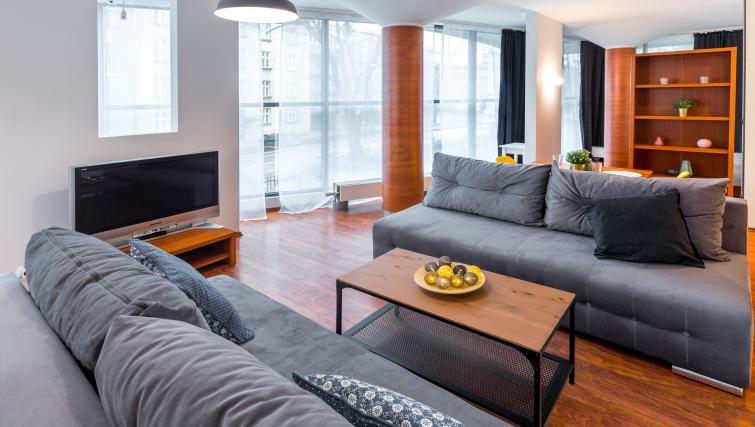 Living room at Kazimierza Wielkiego Apartments - Citybase Apartments