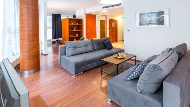 Sofas at Kazimierza Wielkiego Apartments - Citybase Apartments