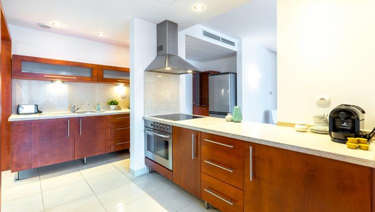 Kitchen at Kazimierza Wielkiego Apartments - Citybase Apartments