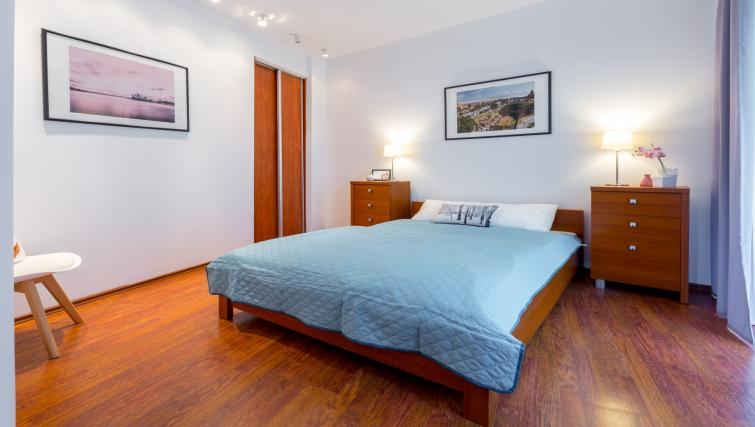 Clean bedroom at Kazimierza Wielkiego Apartments - Citybase Apartments