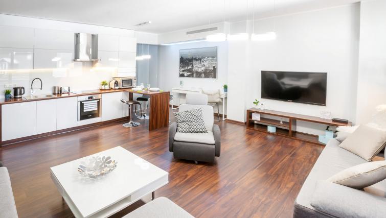 Living room at Kazimierz Apartments - Citybase Apartments