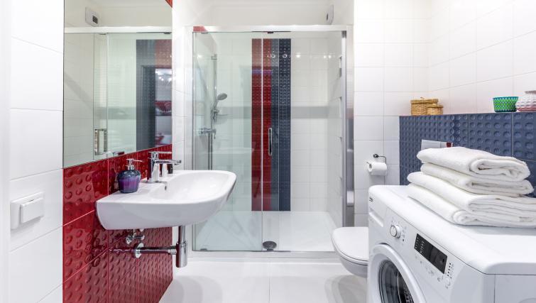 Bathroom at Kazimierz Apartments - Citybase Apartments