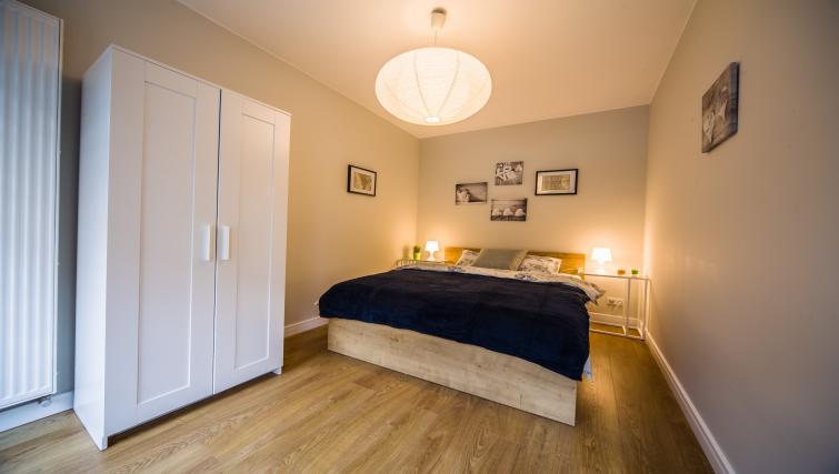 Double bed at Kazimierz Apartments - Citybase Apartments