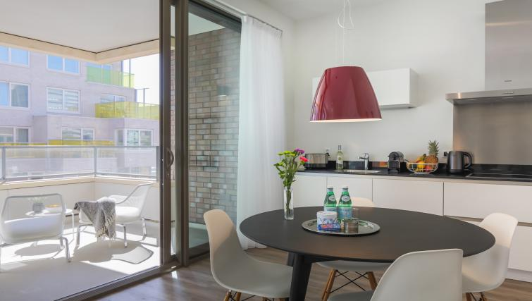 Balcony view at Gershwin Serviced Apartments, Amsterdam - Citybase Apartments