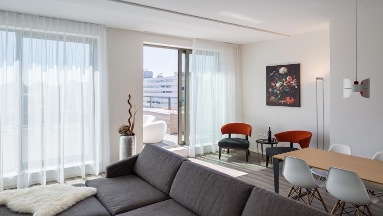 Living room at Gershwin Serviced Apartments, Amsterdam - Citybase Apartments